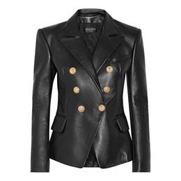 Leather woman cLothing online shopping - Balmain Women Jacket Balmain Women Clothes Black Leather Jacket Women Designer Jackets High Quality Size S XL