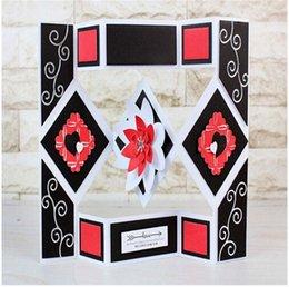 Carpeta de geometría Pantalla Plantillas de troqueles de corte de metal para DIY Scrapbooking Artesanías decorativas En relieve Tarjetas de papel Caja de regalo decore en venta