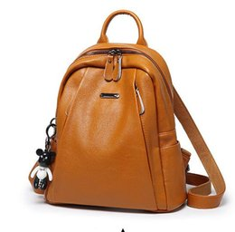 Korean Brand Backpack For Women Australia - 2019 European and American brand new leather backpacks for women Korean version of fashion all-purpose leather bags with large capacity