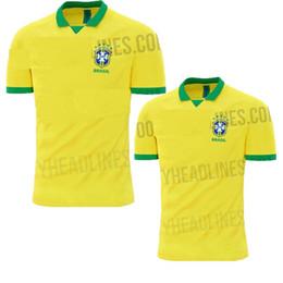 NEW 2019 2020 World cup Brasil soccer jerseys men Brazil Jersey 2019 20 JESUS  COUTINHO FIRMINO MARCELO football kit shirt camisa de futebol 5f9378bea