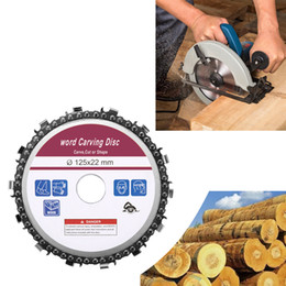 woodworking angle tool Australia - Woodworking Tool 5 Inch 14 Teeth Grinder Chain Disc 22mm Arbor Wood Carving Disc 125mm Angle Grinder Circular Saw Accesories