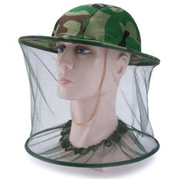 $enCountryForm.capitalKeyWord Australia - Outdoor Camo Cap Sun Protection Fishing Hats Practical Insect Bee Mosquito Resistance Bug Net Mesh Head Face Hat SN3375