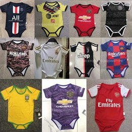 Soccer uniform kitS wholeSale online shopping - 2019 New baby jerseys America For baby month soccer Jerseys child football kids shirts kits Customized football uniforms