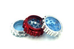 $enCountryForm.capitalKeyWord Australia - DHL Free Red Blue Grinder Gear Shape Grinders 40mm Diameter Herb Grinders Alluminum Alloy ABS Plastic Herb Grinder 3 Layers Grinder