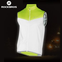ciclismo jacket Australia - ROCKBROS Reflective Safety Vest Cycling Vest Sleeveless Jacket Windproof Bike Clothing Bicycle Jersey Coat chaleco ciclismo