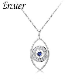 $enCountryForm.capitalKeyWord Australia - ERLUER New Necklace For Women Girl Silver Rose Gold Color Devil eye Pendant Charm Pendants Necklaces lover Gift Fashion jewelry