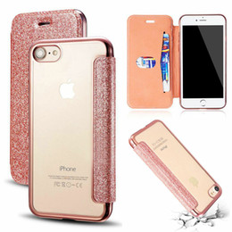 $enCountryForm.capitalKeyWord Australia - Luxury Stitched PU Leather Clear Back Chrome Edge Flip Wallet Card Stand Shockproof Phone Case Cover For Apple iPhone 6 7 8 Plus X XR XS MAX