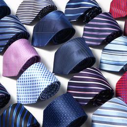 Beige Silk Tie Australia - Men Ties Solid Color Stripe Flower Floral 8cm business wear Jacquard Necktie 2019 new polyester silk wedding Neck ties