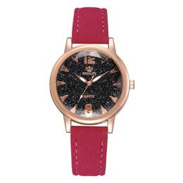 Discount vintage brand watch - 2019 NEW Fashion Women Watches Brand Quartz watch for Ladies leather band Female Vintage Clock Brown Pink Retro Wristwat