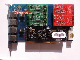 TDM410P с модулем Vpmadt032 отмены отголоска --модуль 4Port FXO