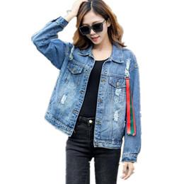 579d07c4c78 Denim Jacket Korean Female Jacket Light Blue Denim Coat Relaxed Fit Tops  Long Sleeve Jean Outwear Women G292