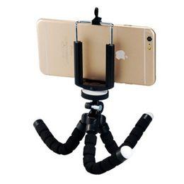 $enCountryForm.capitalKeyWord Australia - Flexible Sponge Octopus Mini Tripod With Bluetooth Remote Shutter For iPhone mini Camera Tripod Phone Holder clip stand