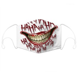 red devil mask UK - Print Face Masks Dustproof and PM2.5 Normal Life Mouth Masks with Filter Chip Children Adults Designer 3D