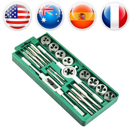 Thread Tapping Tools Canada - Taps and Dies Set M3~M12 Screw Thread & Tap Wrench & Die Wrench Hand Multi-function Manual Metric Tapping Tool Kit Set