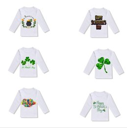Baby Girls Shirts Design Australia - Kids Boy Clothes St. Patrick's Day Girls T Shirts Printed Children Tees Long Sleeve Baby Tops Kid Clothing 6 Designs YW2315