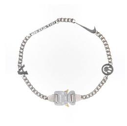 $enCountryForm.capitalKeyWord UK - 2019 1017 ALYX STUDIO LOGO Metal Chain necklace Bracelet belts Men Women Hip Hop Outdoor Street Accessories Festival Gift free ship