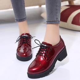 $enCountryForm.capitalKeyWord NZ - Thick Bottom Women Flat Platform Shoes Fashion Design Round Toe Lace-up Women Casual Shoes British Style Women Brogue Shoes899
