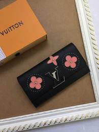 Fine Coins Australia - Wallet is made of fine grain 63111 2019 WOMEN REAL LEATHER LONG WALLET CHAIN WALLETS COMPACT PURSE CLUTCHES EVENING KEY CARD HOLDERS