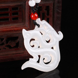 white jade pendant silver Australia - Afghan white jade pendant flower thousand bones with the same paragraph Yan Shui jade jade pendant natural wholesale