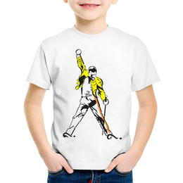 Boys Rock Tees Australia - Children Fashion Print FREDDIE MERCURY T-shirts Kids Heavy Rock Top100 band Clothes Casual Tops Baby Tees For Boys Girls,HKP627