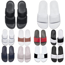 navy blue white heeled sandals Australia - 2020 designer slipper loafer white Navy Blue men women slide casual sandal slippers loafers slides mens womens sandals trainers sneakers