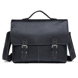 $enCountryForm.capitalKeyWord UK - Men's Unique Design Briefcases Laptop Bag Genuine Cow Leather Classic Leather Computer Bag Black Handbag Busniess