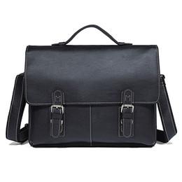 Unique Computers UK - Men's Unique Design Briefcases Laptop Bag Genuine Cow Leather Classic Leather Computer Bag Black Handbag Busniess