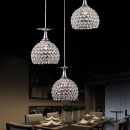 modern lantern lamp NZ - Contemporary and contracted three creative crystal droplight of led lamps and lanterns of droplight restaurant bar