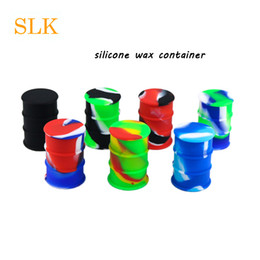 $enCountryForm.capitalKeyWord Canada - FDA approved 26 ml Silicone Oil Drum Barrel Container Jar Non Stick Dab Bho Slick Oil Wax Jar E-cig accessories mini wax container