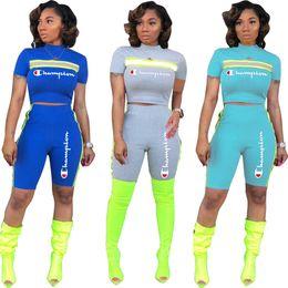 fe95c6b0 Stripped t ShirtS online shopping - Champions Brand Designer Tracksuit  Women Reflective Strip T Shirt Shorts