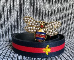 Design Patterns For Dresses Australia - butterfly buckle belts design genuine Elastic webbing belt for women Color bar pattern belt female dress belts womens strap belt