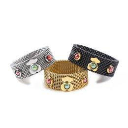 Aço inoxidável espanhol grosso de prata anel de jóias bonito urso para mulher