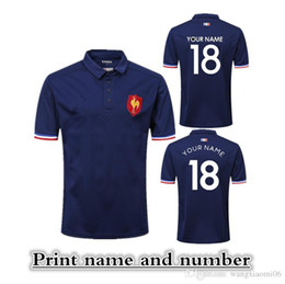 Wholesale 2018 POLO DE PRESENTATION XV DE FRANCES RUGBY JERSEY size S XXXL Print name and number Top quality