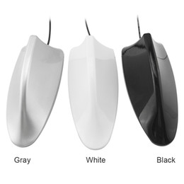 Shark Fin Car Roof Antenna Australia - Universal Car Radio Antenna Shark Fin Roof Decorative Antenna With FM AM Radio Function 3-Color #1991