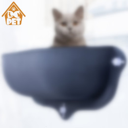 dog cages crates Australia - Cat Hammock Bed Window Pod Lounger Suction Cups Warm Bed For Pet Cat Rest House Soft And Comfortable Ferret Cage SH190926