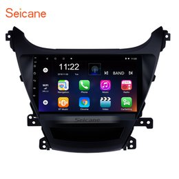 Hyundai steering wHeels online shopping - 9 inch Touch screen core GPS Navi Car Stereo for Hyundai Elantra with AUX Bluetooth support Steering Wheel Control Rear camera