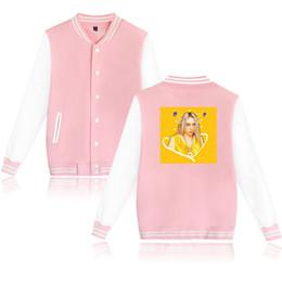 $enCountryForm.capitalKeyWord NZ - New Baseball uniform billie eilish Men Women Coats long sleeve high quality Student Boy Girl Baseball Jacket 4XL