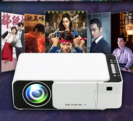 T5 Portatif LED Projektör 4K 2600 Lümen 1080P HD Video Projektör USB HDMI Projeksiyon İçin Ev Sineması Opsiyonel Wifi Projektörler 1pcs