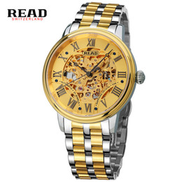 $enCountryForm.capitalKeyWord UK - READ men's wrist watches mechanical Top Brand Luxury Business gold watch 2019 Full Steel Waterproof Automatic Clockwork 8042