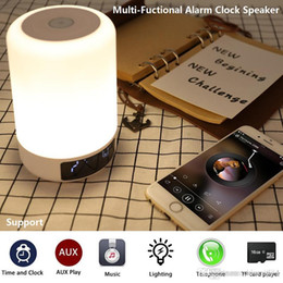 $enCountryForm.capitalKeyWord Australia - Colorful LED Light Bluetooth Speaker Portable Wireless Stereo Speakers Sound Box Hand-free TF Alarm Clock White