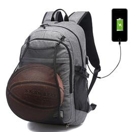 612272d322 Sport Backpacks Men Laptop Backpack School Bag For Teenager Boys Soccer  Ball Pack Gym Bags Male Football Basketball Net XA604WD  251046
