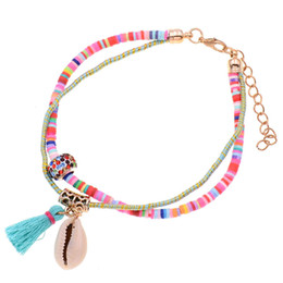 Fashion Bracelets Anklets Australia - Fashion Beach Accessories Handmade Shell Anklet Bracelets Bohemia Anklets For Women Holiday Beach Anklet Foot Jewelry Wholesale 7