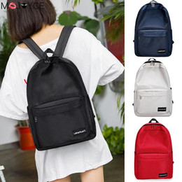 $enCountryForm.capitalKeyWord NZ - Fashion Casual Wild Woman Backpacks Solid Color Unisex Travel Backpacks Cute Girl College Style Canvas Shoulder School Bags