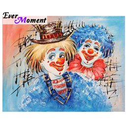 Clown Paintings Australia - wholesale Diamond Painting Cartoon Clown Full Square Drill Picture Mosaic Decor For Home Diamond Embroidery 5D DIY S2F862