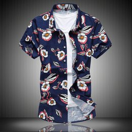 mens european style long t shirts 2019 - mens designer t shirts European size men's boutique summer new style short-sleeved plus fat extra large fat flower