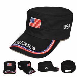 $enCountryForm.capitalKeyWord NZ - USA America Star Flag Trucker Cap Designer Hats Caps Flat Top Hat Mens Outdoor Hiking Climbing Sports Cap Unisex Training Sunhat Visor C7903