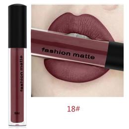 Discount matt gloss mix lipstick - 8ml Waterproof Matt Liquid Lipstick Women Fashion Lip Makeup Long Lasting No Sticky Cup Lighten Lines Lip Gloss