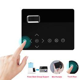 Опт T200 Mini Micro LED Cinema Портативный видео HD USB HDMI проектор для домашнего кинотеатра с коротким фокусом Дизайн T200 Экран передачи