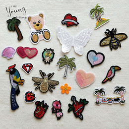 $enCountryForm.capitalKeyWord Australia - 22PCS Mixed Iron On Patches For Clothing Embroidery Patch Cactus Badge Little Bear hornet For Clothes Jeans Applications DIY