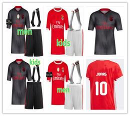 Nova 2019 2020 Benfica kit para crianças adultas JONAS JOAO FELIX Camisas De Futebol Novo PIZZI SEFEROVIC SALVIO JARDEL Casa Longe homem Camisas de futebol venda por atacado